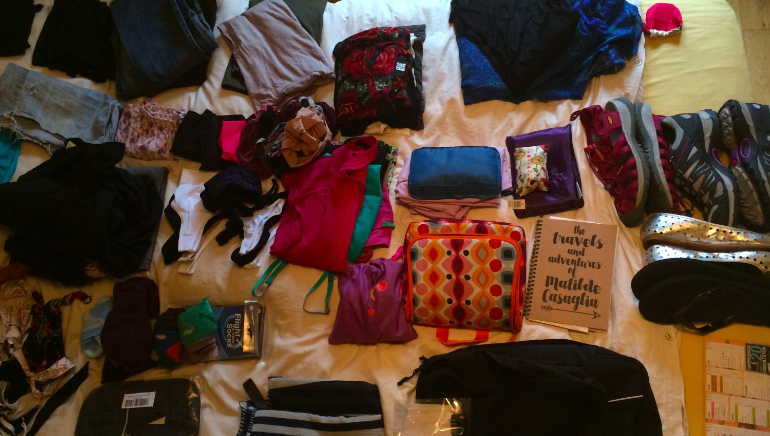 Packing list for RTW trip